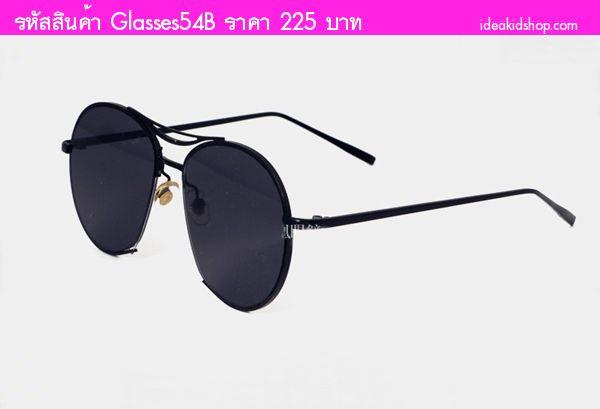 แว่นแฟชั่นกันแดดสุดฮิตดีเทลเก๋ เลนส์สีดำ