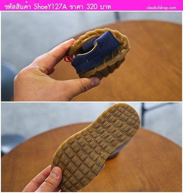 รองเท้าเด็กรัดส้น Sport FAN XXX สีน้ำเงิน
