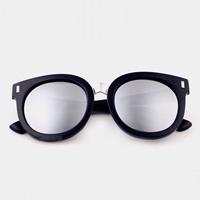 แว่นแฟชั่นกันแดดไฮโซไซตี้-เลนส์สีเงิน