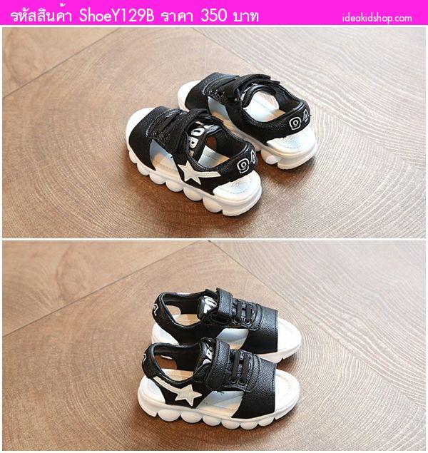 รองเท้ารัดส้นสปอร์ต Two Tone ZOBE 94 สีดำ