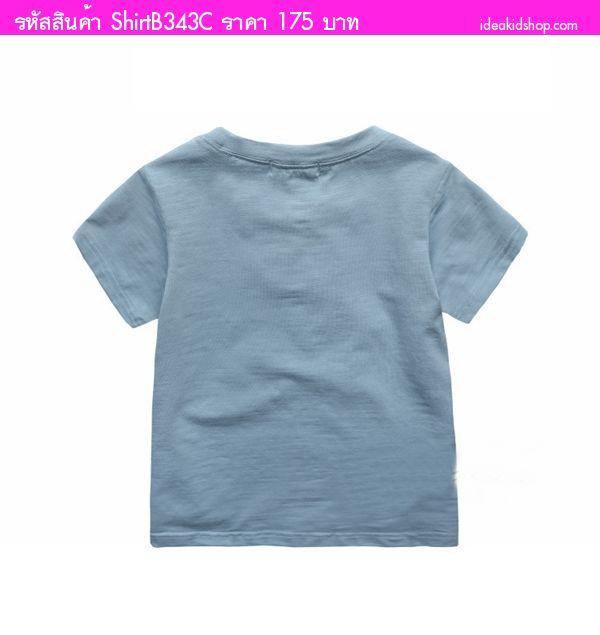 เสื้อยืดหนูน้อย I AM สีฟ้าพาสเทล