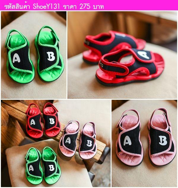 รองเท้ารัดส้นสไตล์เกาหลี A&B สีชมพู