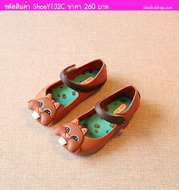 รองเท้ารัดส้นสไตล์ Melisa กระรอกน้อย สีน้ำตาล