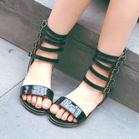 รองเท้าแฟชั่นสไตล์โบฮีเมียน-หนูน้อยเรย่า-สีดำ