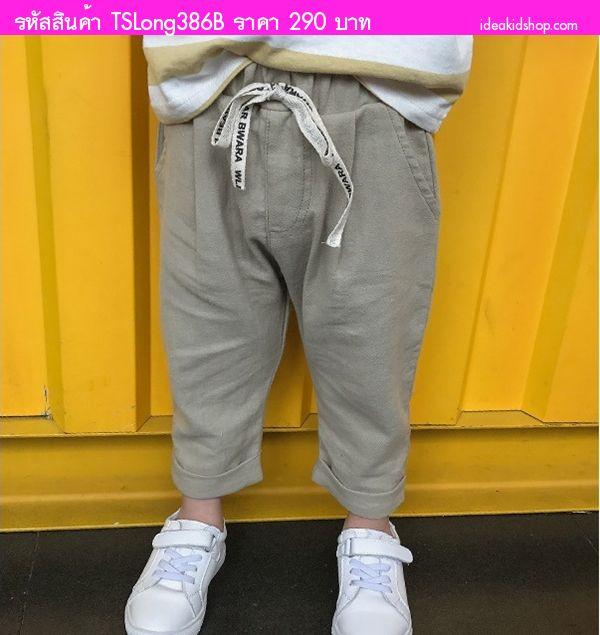 กางเกงขายาวหนุ่มน้อยจีฮุนสุดเท่ สีเขียวเทา