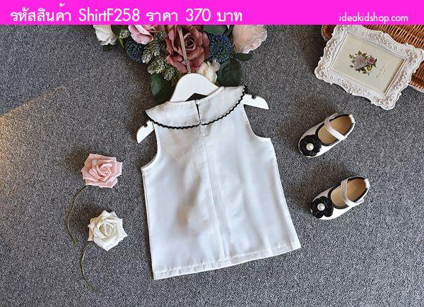 เสื้อคุณหนูคามิเลีย สไตล์ Chanel สีขาว
