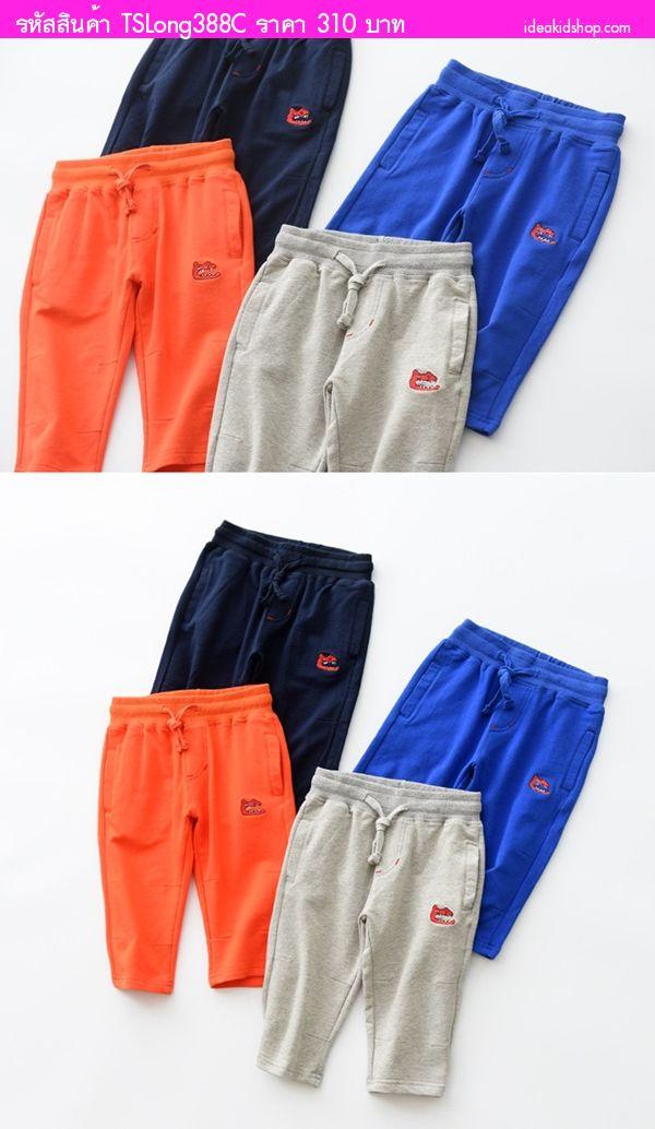 กางเกงสามส่วนสไตล์วอม หมาป่าจอมเขี้ยว สีน้ำเงิน