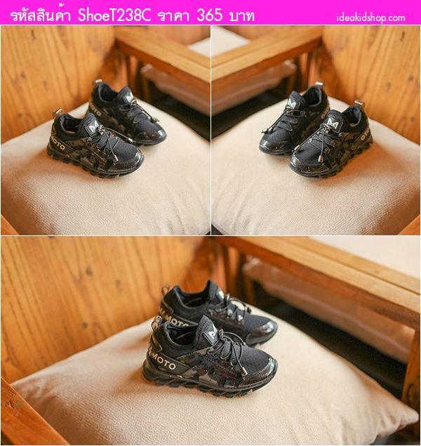 รองเท้าผ้าใบแฟชั่น YOHJI YAMAMOTO สีดำ