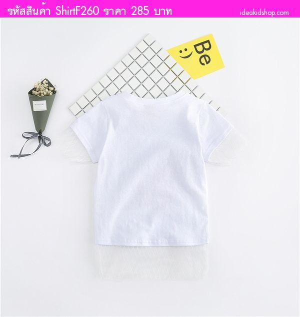 เสื้อยืดแฟชั่นสุดเท่ Starwars สีขาว