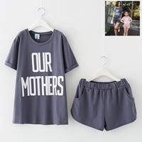 ชุดเสื้อกางเกงคู่แม่ลูก-OUR-MOTHERS-สีเทา