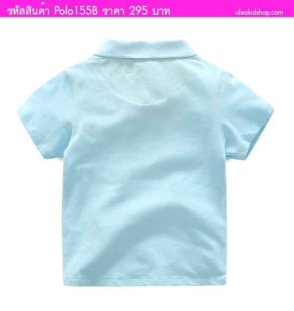 เสื้อยืดโปโลแฟชั่น ยีราฟน้อย สีขาว