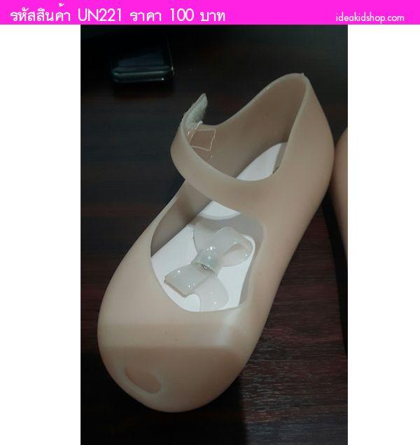 รองเท้าเด็กติดโบว์สุดเก๋ สไตล์ Mini Melissa(ตำหนิ)