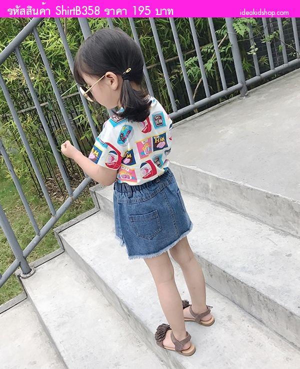เสื้อยืดแฟชั่นหนูน้อยจูดี้ สีขาว