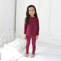 ชุดนอนเด็ก-Super-Casual-สีเปลือกมังคุด