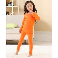 ชุดนอนเด็ก-Super-Casual-สีส้ม