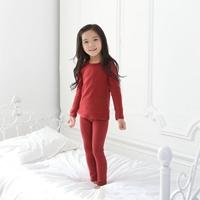 ชุดนอนเด็ก-Super-Casual-สีเลือดหมู