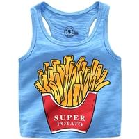 เสื้อกล้ามแฟชั่น-Super-Potato-สีฟ้า