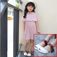 รองเท้าหนังรัดส้นคุณหนูจินจิน-สีขาว