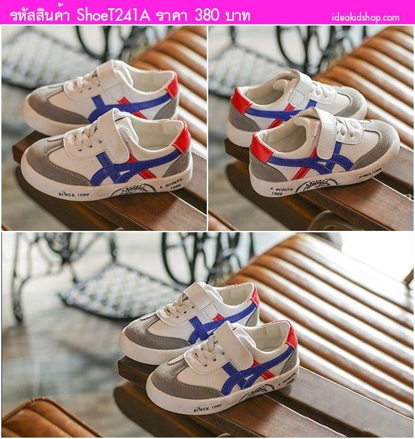 รองเท้าผ้าใบแฟชั่นสไตล์โอนิ 1989 สีขาวน้ำเงิิน