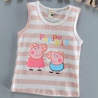 เสื้อกล้ามแฟชั่น-Pappe-Pig-ลายทาง-สีชมพูพาสเทล