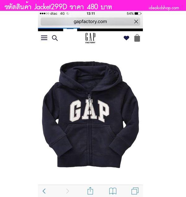 Jacket กันหนาว Gap Kid มีฮู้ดแขนยาว สีกรม