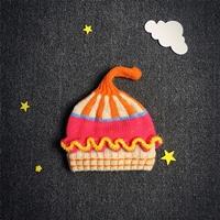 หมวกไหมพรมหลากสี--Cup-Cake-โทนสีชมพู