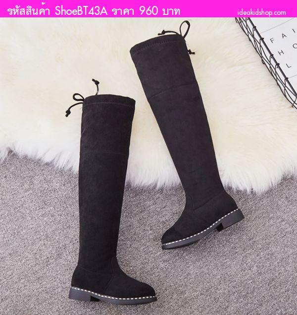 รองเท้าบูทสูง High Martin Boots สีดำ