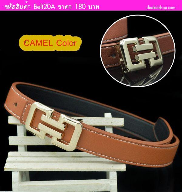 เข็มขัดเด็ก Belts Casual  สี Camel