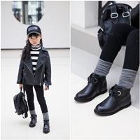 รองเท้าบูทแบบสั้น-Black-Belt-สีดำ