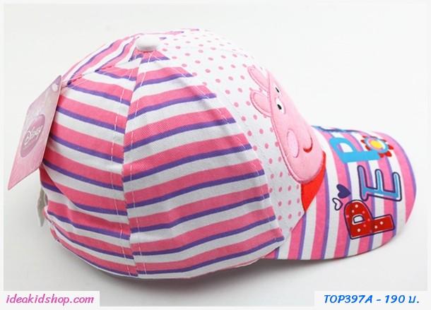 หมวกแก๊ป Peppa Pig โทนสีขาว