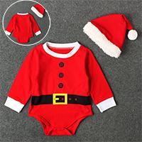 บอดี้สูท-Xmas-Santa-พร้อมหมวก-สีแดง