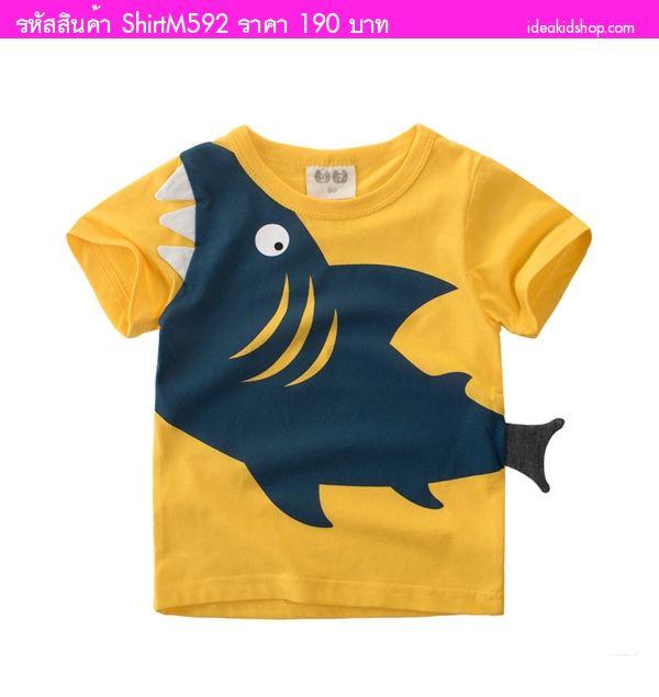 เสื้อยืดแฟชั่นสุดเท่ The Shark สีเหลือง