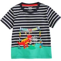 เสื้อยืดเด็ก-Jojo-Egg-Hunt-ลายทาง-สีกรม