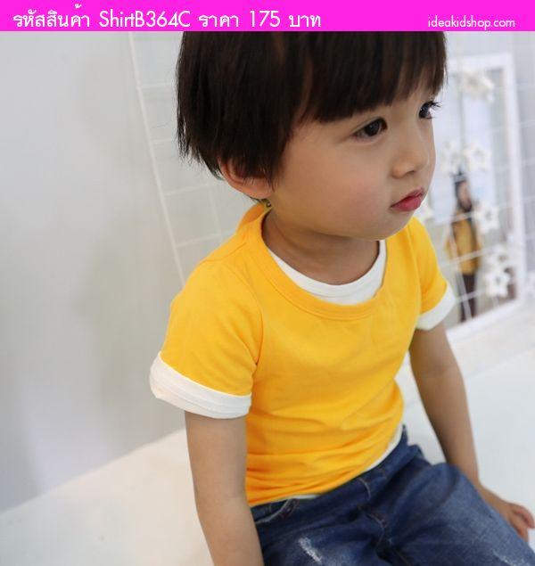 เสื้อยืดแฟชั่นหนูน้อยจิมมี่ สีเหลืองคัสตาร์ด