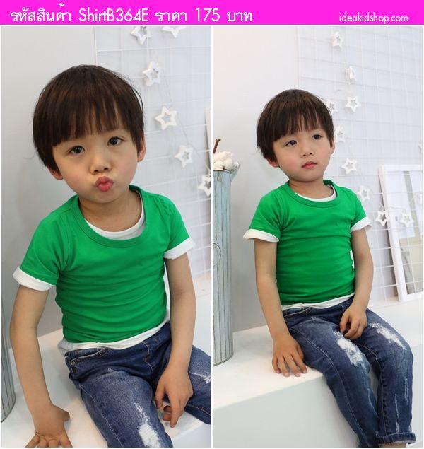 เสื้อยืดแฟชั่นหนูน้อยจิมมี่ สีเขียว