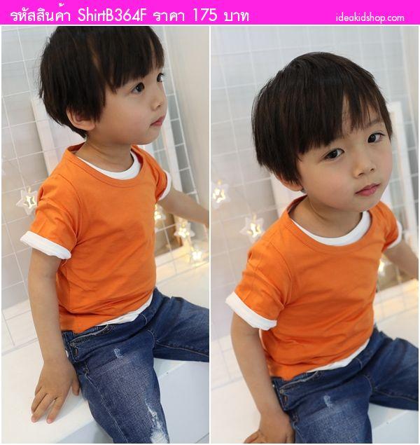 เสื้อยืดแฟชั่นหนูน้อยจิมมี่ สีส้ม