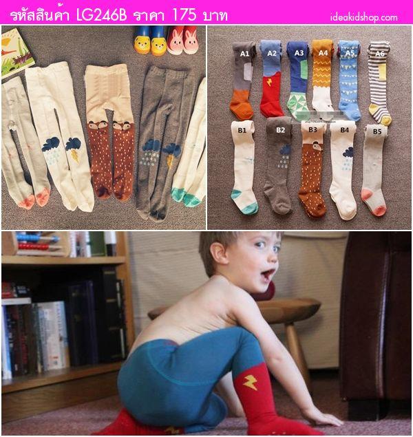 กางเกงเลกกิ้งลองจอน ลายแพนด้า สีเทา