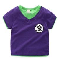 เสื้อยืดเด็ก-DRAGONBALL-สีม่วง