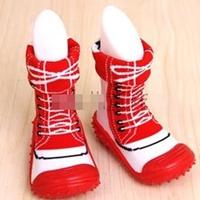 -รองเท้าถุงเท้าแต่งเชือกผูก-สีแดง