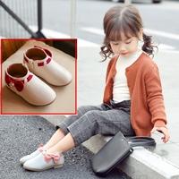 รองเท้าบูทแบบสั้นหนูน้อยยูมิโกะ-ติดโบว์-สีขาวครีม