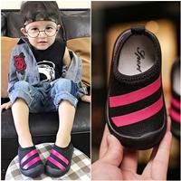 รองเท้าผ้าใบแต่งแถบคาด-Fashion-Sport-สีดำ