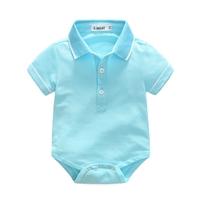 บอดี้สูทสไตล์-Polo-Baby-Cute-สีฟ้า