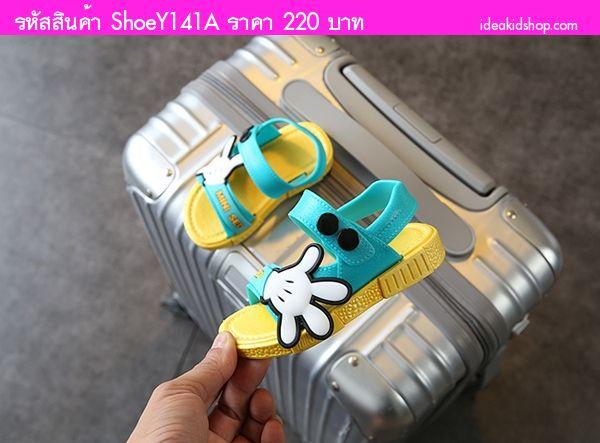 รองเท้ารัดส้น Scholl Mickey MINI SED สีเหลือง