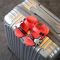 รองเท้ารัดส้น-Scholl-Mickey-MINI-SED-สีแดงดำ