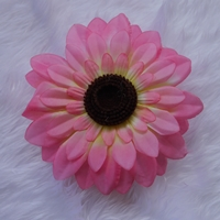 กิ๊บติดผมดอกใหญ่-ดอกทานตะวัน-สีชมพู