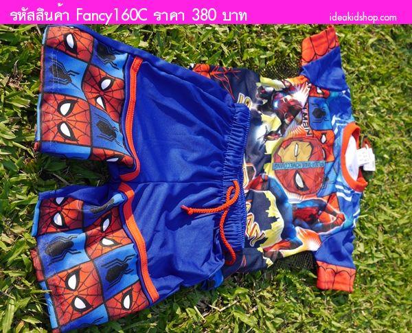 ชุดเสื้อกางเกงมีไฟกระพริบ Spider Man