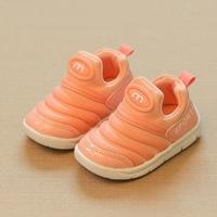 รองเท้าผ้าใบแบบสวมแถบคาด-Sport-สีโอรส