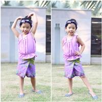 ชุดไทยเสื้อคอกระเช้า_ผ้าถุง_โบว์คาดผม-สีม่วง