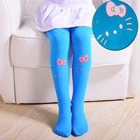 ถุงน่อง-Retro-Kitty-สีฟ้า