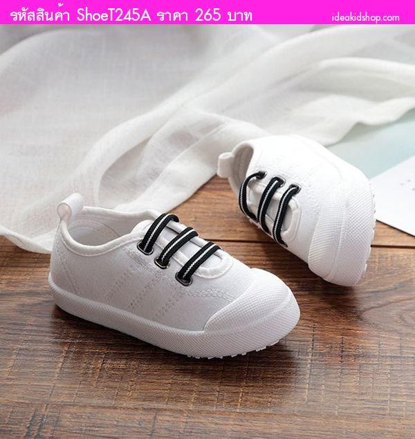 รองเท้าแต่งเชือกคาด แฟชั่น AiLvYang สีขาว